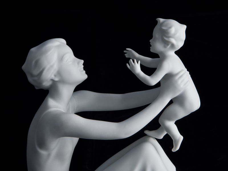 Figurines in White